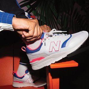 New Balance 997H Men's White Pink Blue Shoes